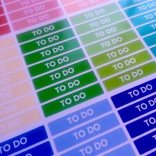 84 To Do Stickers for Various Types of Planners - Fits EC Vertical (#186)