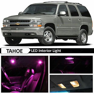 20pcs Pink Full Interior LED Lights Bulbs Package Kit for 2000-2006 Chevy Tahoe