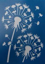 Scrapbooking - STENCILS TEMPLATES MASKS SHEET - Dandelion Stencil