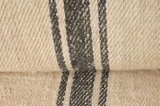Vintage STAIR RUNNER HEMP fabric material HOMESPUN charcoal black per 1yd old