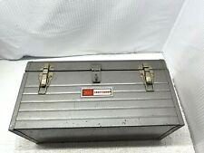 "Vintage Sears/Craftsman USA 18"" Lined Mechanics Tool Box w/Red Metal Tray #6500"