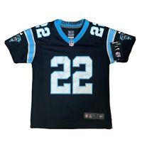 Nike NFL Carolina Panthers #22 MCCAFFREY Black Jersey Youth S Women's 8 BNWT