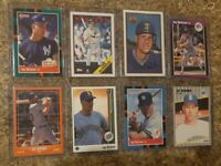 (8) Jay Buhner 1988 1989 Score Donruss Upper Bowman Topps Rookie card lot RC