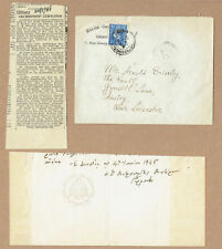 Strenopoulos Germanos, Archbishop of Thyateira. 1945 Autograph Letter Tail