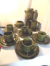 Vintage 'Agincourt' Coffee Set, Jon Anton Ironstone, Green, Celtic Cross