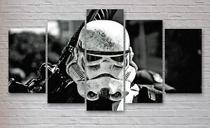 Stormtrooper Star Wars Movie 5 Panel Canvas, Wall Art, Picture, Print #011