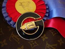 "Ultra RARE Vintage GUCCI Enamel ""G""  Metal Couture Statement Belt BUCKLE GG"