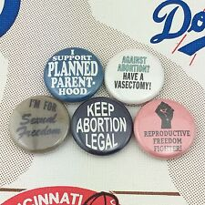 """Pro Choice 1"""" buttons badges Donald Trump Equal Women's Rights Feminist Abortion"""