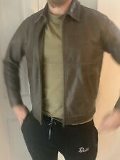 Mens Burberry Leather Jacket Size Large