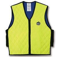 Ergodyne Chill-Its 6665 Evaporative Cooling Vest, Hi Vis Lime, Large, 12534, New