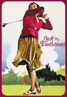 Golf in Deutschland Blechschild Schild gewölbt Metal Tin Sign 20 x 30 cm F0309-X