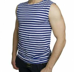 Original new Russian army military sleeveless shirt blue all sizes