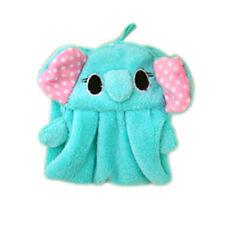 Cute Hand Towel Soft Plush Cartoon Animal Fabric Hanging Wipe Bathing Towel A1244