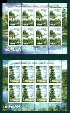 Belarus Scott #388-389 MNH MINISHEETS Europa Flora and Fauna CV$44+
