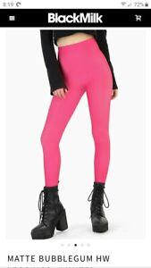Black Milk Clothing Matte Bubblegum HW Leggings Size XL