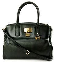 DKNY Donna Karan Tote Satchel Bag Black Medium Leather Handbag RRP £275