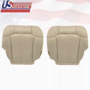 2000 2001 2002 Chevy Tahoe-Suburban Driver-Passenger Bottom Vinyl Seat Cover Tan