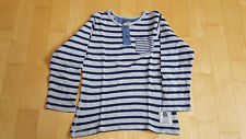 T-Shirt langarm grau-blau gestreift Gr. 134/140 H&M
