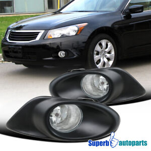 For 2008-2010 Honda Accord 4Dr 4-Cylinder Front Fog Bumper Lights