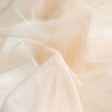 Light Pastel Peach Pink Soft Tulle Veiling Fabric 150cm Wide - by The Metre