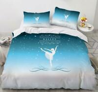 3D Beautiful Ballerina Girl KEP5798 Bed Pillowcases Quilt Duvet Cover Kay