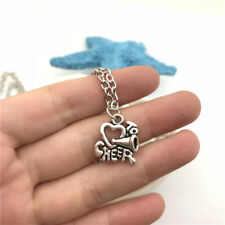 Cheerleader Charm Necklace Charms Jewelry Tibet silver Pendant Chain Necklace