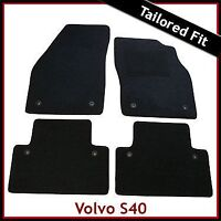 Volvo S40 Mk2 2004-2012 Tailored Carpet Car Floor Mats BLACK