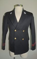 "VINTAGE DeMOULIN BROS. BLACK 100% WOOL ""ROMEO"" 2 PIECE BAND UNIFORM SIZE 34S"