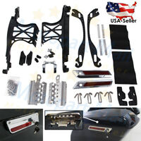 One Touch Opening Saddlebag Latch Lids Hardware Cover Hinge Kit For Harley 14-18