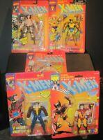 (5) Marvel Comics X-Men Wolverine Action Figures Lot Robot Space Street Clothes