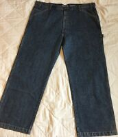 Levis Signature Carpenter Jeans 46 x 32 Relaxed Straight Leg Denim Blue