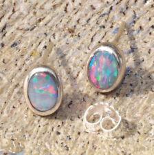 Natürliche echte Opal-Ohrschmuck mit Cabochon-Schliffform