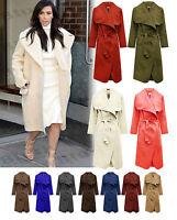 Ladies Belted Cape Cardigan Jacket Coat Fallaway Celebrity Waterfall Long Sleeve