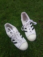 Ladies Adidas Shell Toe Superstar Ortholite Trainers Size 5.5 White.