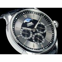 ORIS Artlier Complication 581.7592.40.54LS Automatic Black Dial Leather Men's