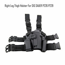 Tactical Right Drop Leg Thigh Duty Pistol W/ 2 Pouches Holster f/ SIG SAUER P226