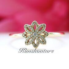 Authentic PANDORA Lace Botanique Ring 150182CZ Size 58