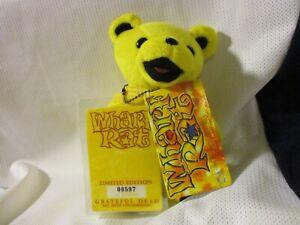 GRATEFUL DEAD VINTAGE 1999 LIQUID BLUE BEAN BEAR WHARF RAT LIMITED EDITION RARE