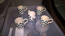 4 Tassen DESIGN und Milchkännchen made in Italy VERGNANO COFFEE KERAMIK