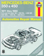 Haynes Workshop Manual Mercedes 350 450 SL SE SLC 1971-1980 Service & Repair