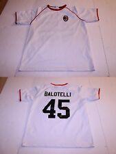 Youth A.C. Milan Mario Balotelli XL Soccer Futbol Jersey (White) Jersey