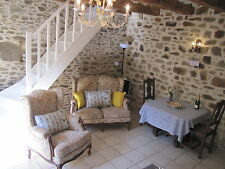 GITE COTTAGE HOLIDAY 2 people CENTRAL BRITTANY FRANCE £62 a night - WITH POOL