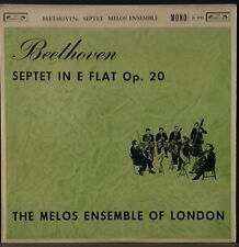 L'OISEAU-LYRE OL 50185 BEETHOVEN SEPTET MELOS ENSEMBLE OF LONDON ENGLISH 1ST PRS