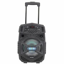 Denver TSP-110 Lautsprecher Trolley Karaokefunktion Bluetooth USB AUX Partylicht
