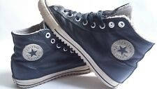 Converse All Star Black / inside fur lining / Leather / Mens / Unisex / 10.5 /10