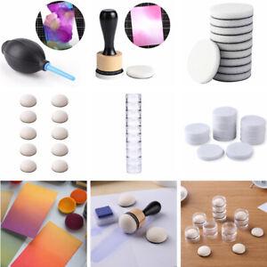 Ink Blending Tool,Alcohol Ink Mini Applicator Tool Felts,Round Stackable Jars