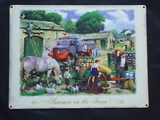 Summer On The Farm Large Metal Sign Plaque Farming Tractor