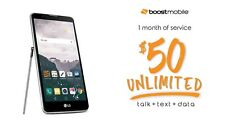 LG Stylo 2 16GB 4G LTE Smartphone for Boost Mobile  New with $50 Service Credit
