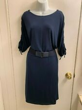 NWOT ELLEN TRACY AWESOME CLASSY NAVY DRESS LARGE RETAIL: $125