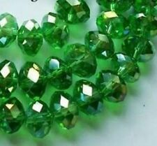 DIY Cheap wholesale Green color crystal beads 3*4mm 596PC
